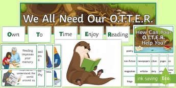 KS3/4 Own Time to Enjoy Reading Display Pack  - reading, OTTER, reading display, books, genres, types of books, KS3 reading