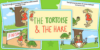 The Tortoise and The Hare Story - story book, stories, visual aid