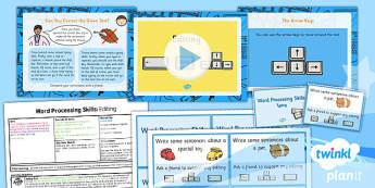 Computing: Microsoft Word Processing Skills: Editing Year 1 Lesson Pack 3