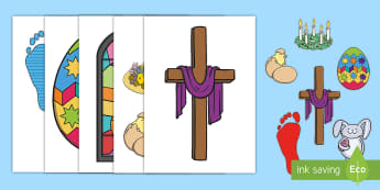 Our Lenten Journey Display Cut-Outs -  Lent , easter, religion, christianity, jesus,