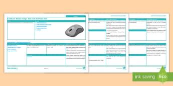 Computer Mouse Design Task: Unit Overview - design & technology, GCSE, Iterative design, mouse, model, prototype, design process, KS4