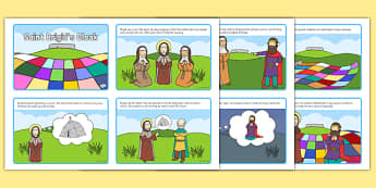 Saint Brigid's Cloak Story Sequencing 4 per A4 - saint brigid, irish history, ireland, saint, patron, sequencing cards