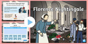 Florence Nightingale PowerPoint - EYFS,KS1, Florence Nightingale's Birthday,12.5.17, year one, year 1, Y1, year two, year 2, Y2, KS1,