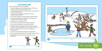 Winter Oral Language Activity Sheet Gaeilge
