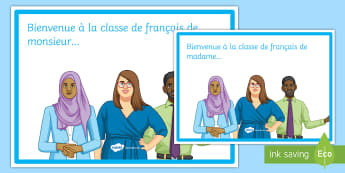 Welcome to the Classroom Editable A4 Display Posters French - classroom, organisation, display, KS4, bienvenue,French