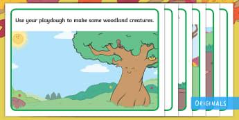 Little Acorns Playdough Mats - acorns, autumn, seasons, oak tree, trees, autumn leaves, KS1, EYFS, story, creative, malleable, fine