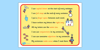How To Make A Super Sentence Checklist - sentence, structure
