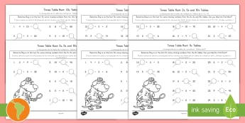 Times Tables Missing Numbers Worksheet / Activity Sheet US English/Spanish (Latin) - Multiplication, math, challenge, math challenge, times tables, spanish, eal