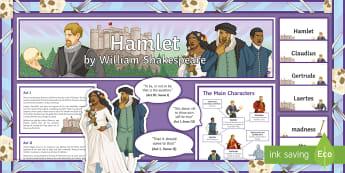 Hamlet Display Pack - Hamlet, Shakespeare, GCSE English Literature, Exam preparation, display pack
