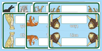 Big Cats Group Table Signs -  Woodland Animals, group signs, group labels, group table signs, table sign, teaching groups, class