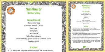 Sunflower Sensory Bag