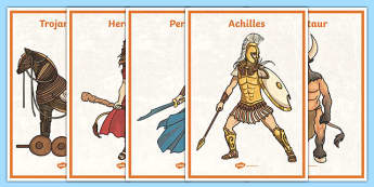 Greek Myth Display Posters - myths, ancient, greek, displays