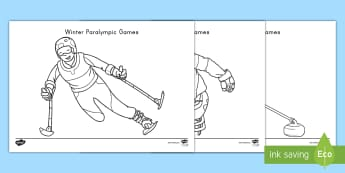 Winter Paralympic Games Colouring Pages - Winter Olympics, Olympics, Winter Paralympics, Paralympics, Athletes