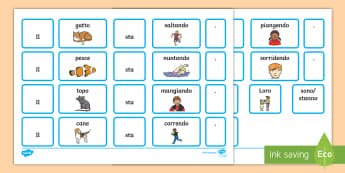 Costrisci le Frasi con i Verbi Attività - costruisci, le, frasi, leggere, scrivere, grammatica, analisi, logica, italiano, italian, materiale,