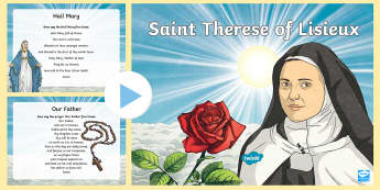 Novena to Saint Therese PowerPoint - novena, grow in love, st therese, religion, fifth class, sixth class, catholic, roman catholic, reli