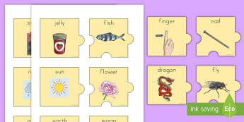 Compound Words Jigsaw Pairing Game - compound words, jigsaw, game, English, root words, vocabulary, grammar, word work, center, station,
