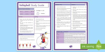 Volleyball Rules A4 Display Poster - PE, KS3, KS4, Volleyball, rules,