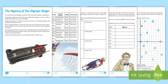 UKS2 The Mystery of The Olympic Ringer Maths Game - Place Value, maths, maths games,time, problem solving, angles, degrees, multiplication, subtraction,