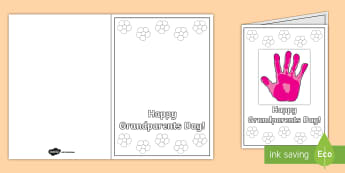Grandparents Day Handprint Gift Card Template - Grandparents, Day, event, Australia, card, craft,Australia