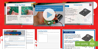 Materials Components and Ingredients Lesson 5: LED Christmas Tree - Electronics, Rapidonline, Systems & Control, Design Engineering, PCB, LED, Circuits, Manufacturing,