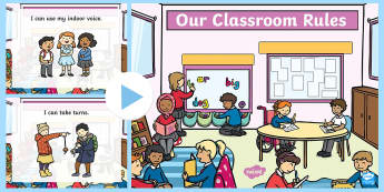 Our Classroom Rules PowerPoint - Back to School, Junior Infants, rule, manners, ,Irish