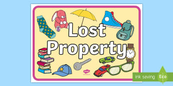 Lost Property Display Poster -  - poster, role play, lost property banner, lost property role play, classroom management, role play ba