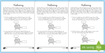 Differentiated Halving Activity Sheets-Spanish - number, halving, halving machine, half, word problems, bakery, shopping, pounds, pence, money proble