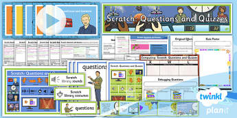 Computing: Scratch Questions and Quizzes Year 4 Unit Pack