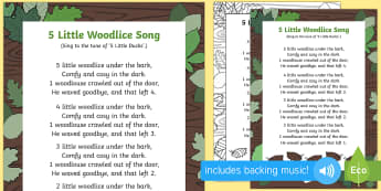 5 Little Woodlice Song - minibeasts, bugs, soil, beetles, creatures