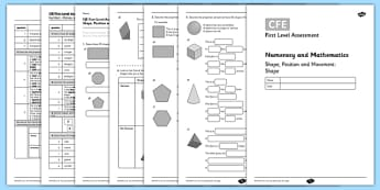 First Level Assessment - Shape - CfE, assessment, shape, tiling, tessellation