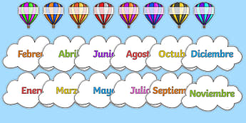 Editable Hot Air Balloon Birthday Display Spanish - spanish, birthday, birthday display, editable birthday display, classroom display, classroom management, hot air balloon