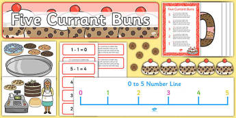 Five Currant Buns Ready Made Display Pack - five currant buns, ready made, display pack