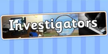 Investigators Photo Display Banner - investigators, IPC display banner, IPC, investigators display banner, IPC display, investigators IPC banner