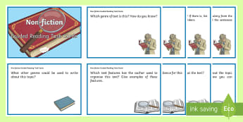 Non-Fiction Guided Reading Task Cards - Comprehension, Reading Strategies, Genre, literacy, English curriculum,Australia