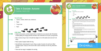 EYFS Take It Outside: Autumn Creative - Acorn Art Activity - Little Acorns, twinkl originals, fiction, Outdoor and Woodland Learning, Wonder Investigate Learn Di
