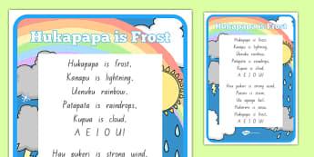Te Reo Māori Hukapapa is Frost Song