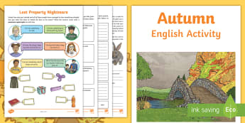 Year 4 Autumn English Activity Booklet - holiday booklet, homework booklet, y4, spag, writing activity, reading activity,