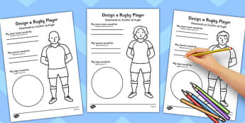 Design a Rugby Player Worksheet Romanian Translation - romanian