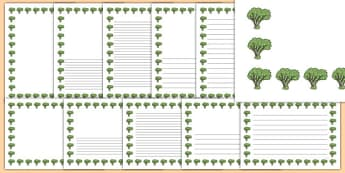 Elder Tree Themed Page Borders - elder tree, themed, page borders, page, borders, elder, tree