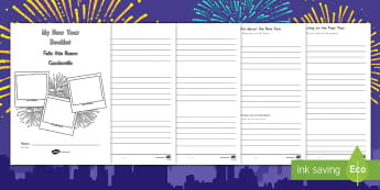 New Year Activity Booklet US English/Spanish (Latin)  - KS2 New Year activity, New Year writing, KS2 New Year, resolutions, changes, KS2 resolutions, spanis
