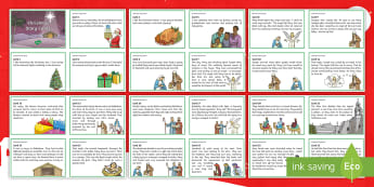 KS2 Christmas Story Cards - the Nativity, LKS2, UKS2, sequencing, order the story,