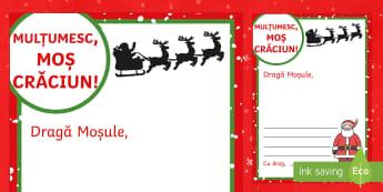 Scrisoare Mulțumesc, Moșule! - scrisoare, moș crăciun, craciun, recunostinta, recunoștință, scriere, româna, scriere function