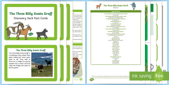 The Three Billy Goats Gruff Discovery Sack - EYFS, Early Years, KS1, fairy tales, traditional stories, goats, grass, bridge, troll