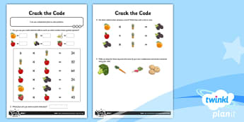 PlanIt Maths Y3 Multiplication and Division Crack the Code Home Learning Tasks