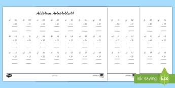 Fantastisch Zweistelligen Touch Mathe Arbeitsblatt Ideen ...