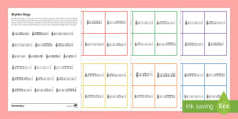 Minims, Crotchets and Quavers Bingo - Secondary - Music - one-off resources, bingo, rhythm, 4/4 time, minim, crotchet, quaver.