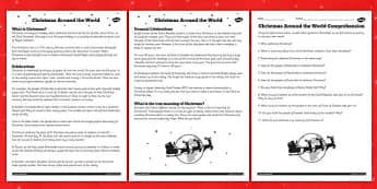 Christmas Around the World Reading Comprehension - ESL Reading Resources