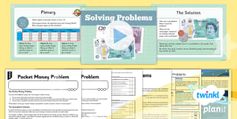 Computing: Excel Spreadsheets: Solving Problems Year 6 Lesson Pack 4