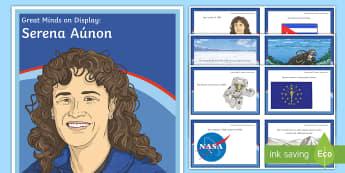 Great Minds on Display: Serena Auñón Display Pack - Astronaut, Hispanic, Latino, National Hispanic Heritage Month, Spanish