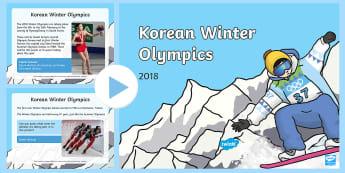 Korean Winter Olympics 2018 Information PowerPoint - Korean Winter Olympics 2018 Information Powerpoint - olympic, Sports, South Korea, wnter, wintre, olypics, olimpi